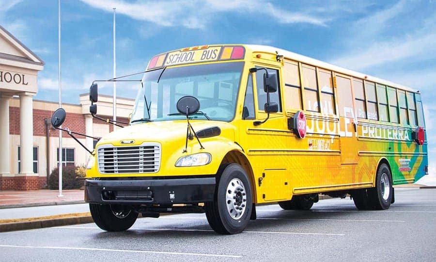 Electric School Bus Powered By Proterra