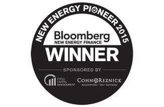 Bloomberg New Energy Finance – New Energy Pioneer 2015