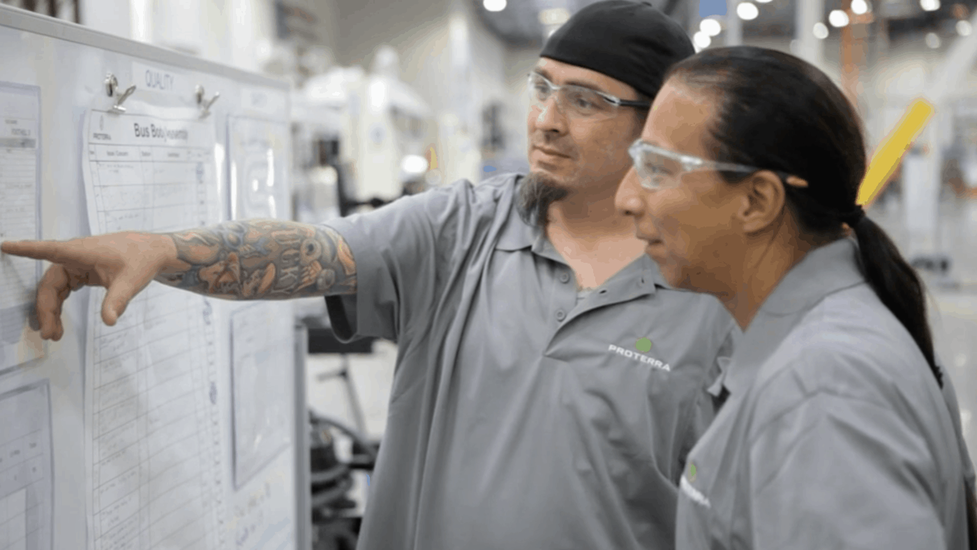Proterra Los Angeles Bus Manufacturing Facility Workers