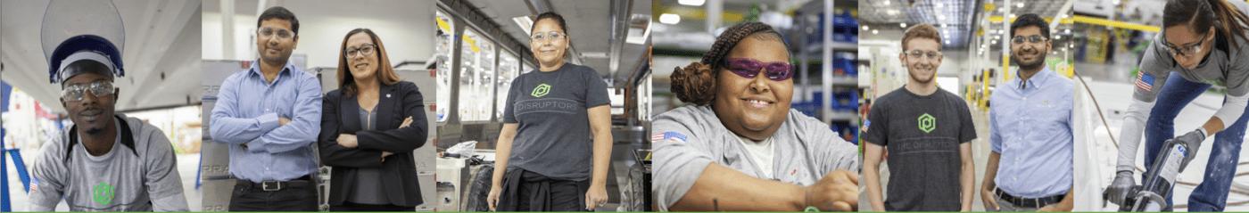 Bottom Row Employees