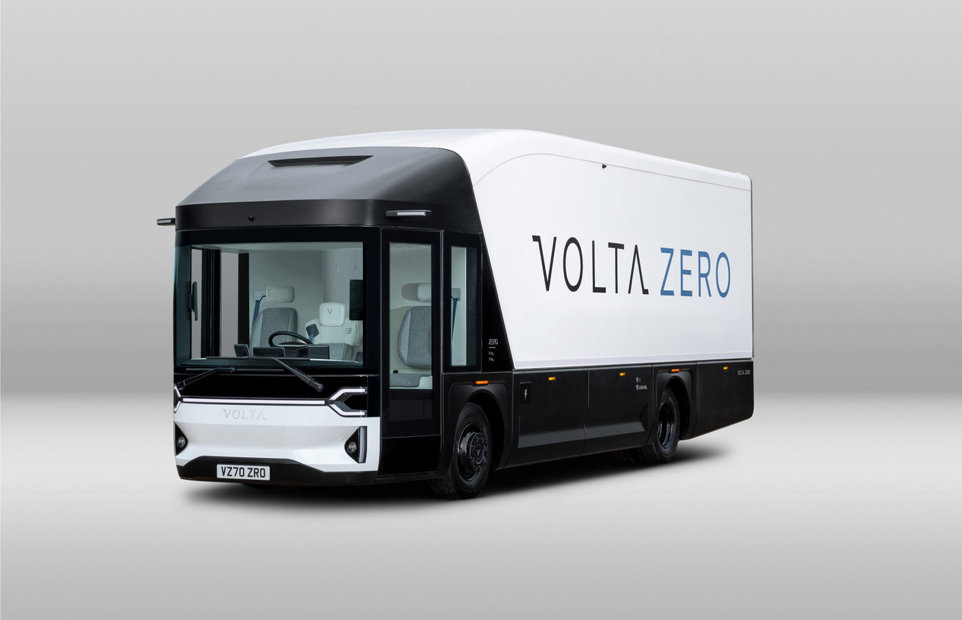 Volta Zero Delivery Truck Front Left Facing Scaled