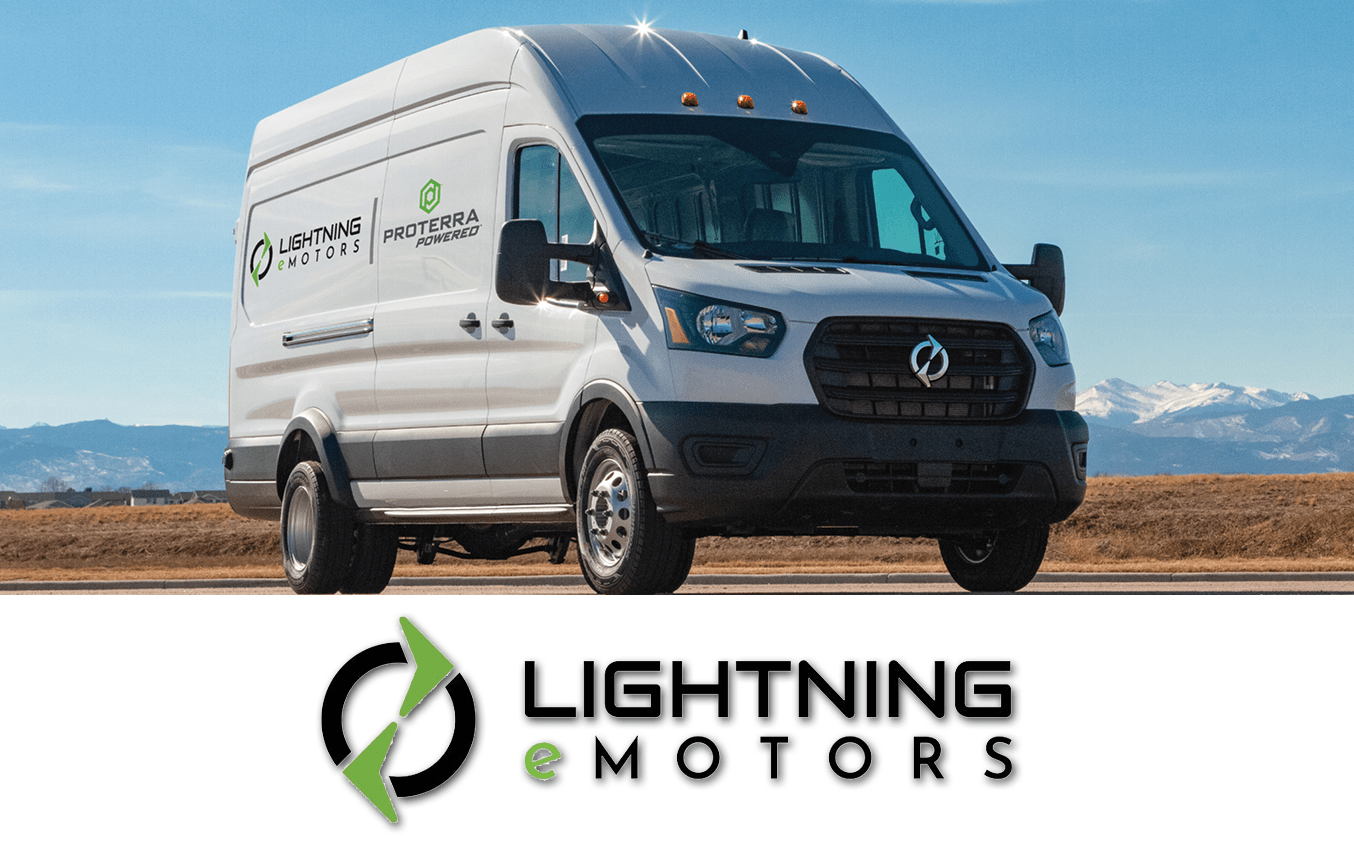 Lightning Emotors Van With Logo 2021